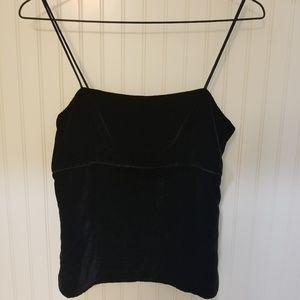 Jcrew black velvet camisole